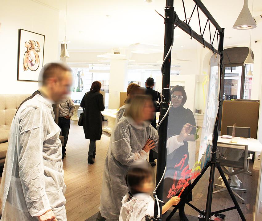 animation fresque en galerie